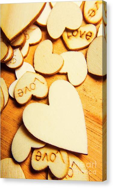 Heart Shape Canvas Print - The Love Heart Scatter by Jorgo Photography - Wall Art Gallery