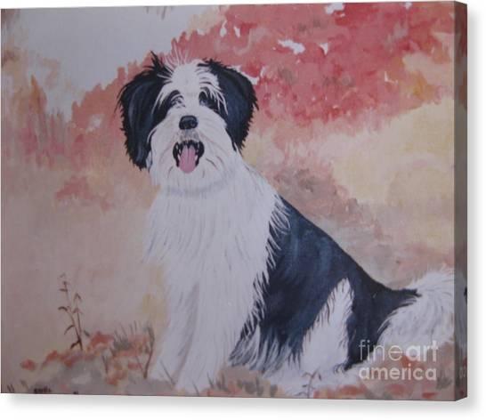 The Loyal Royal Dog. Canvas Print