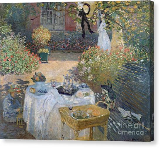 Bonnet Canvas Print - The Luncheon by Claude Monet