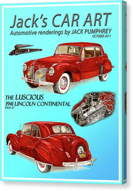 Canvas Print - The Luscious 1941 Lincoln by Jack Pumphrey