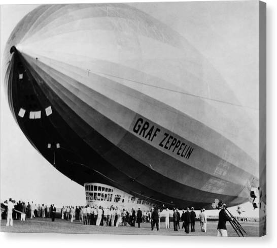 Blimps Canvas Print - The Lz 129 Graf Zeppelin, Making by Everett