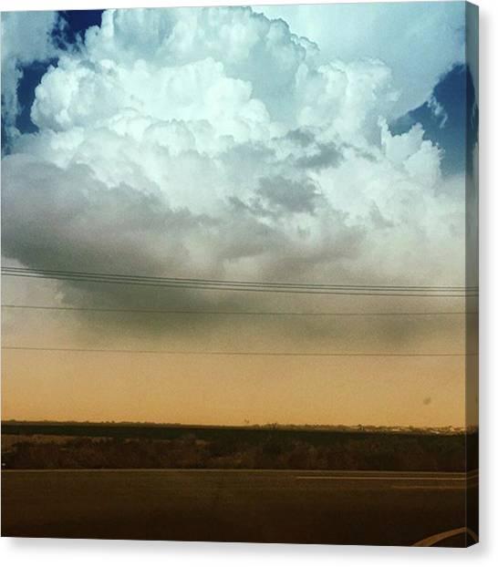 Arizona Canvas Print - The Dust Covering The M Mountain  by Speedy Birdman