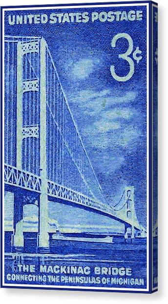 The Mackinac Bridge Stamp Canvas Print