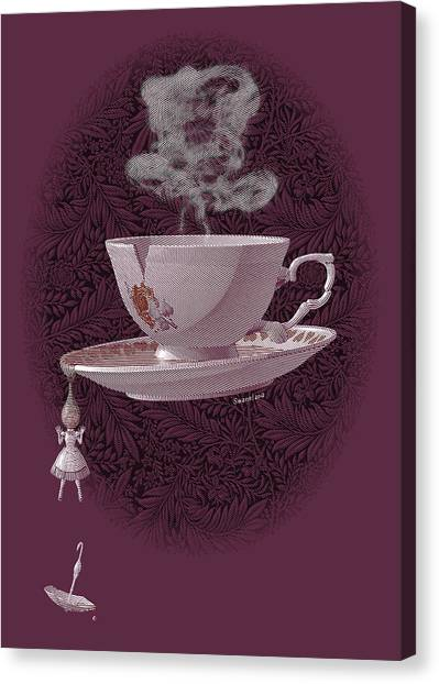 The Mad Teacup - Rose Canvas Print