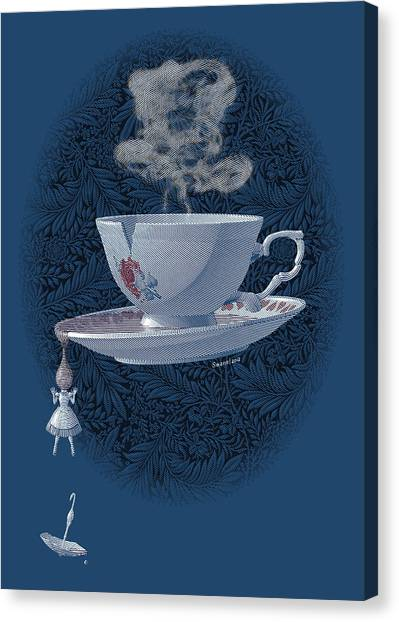 March Hare Canvas Print - The Mad Teacup - Royal by Swann Smith
