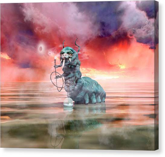 Caterpillers Canvas Print - The Madness Of It All by Betsy Knapp