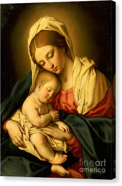 Religious Canvas Print - The Madonna And Child by Il Sassoferrato