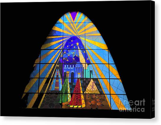 The Magi In Stained Glass - Giron Ecuador Canvas Print