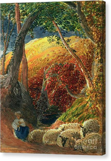 Overhang Canvas Print - The Magic Apple Tree by Samuel Palmer