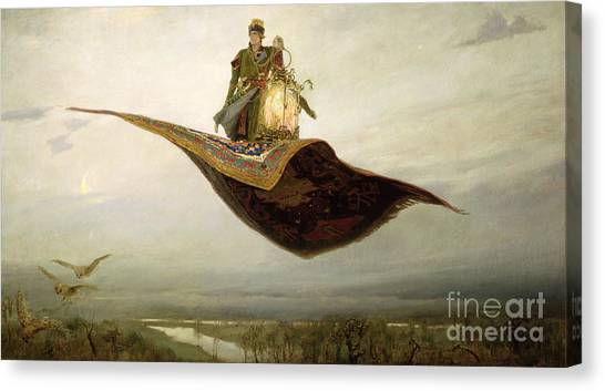 Arabian Desert Canvas Print - The Magic Carpet by Apollinari Mikhailovich Vasnetsov