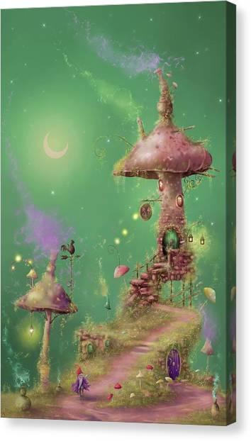The Mushroom Gatherer Canvas Print