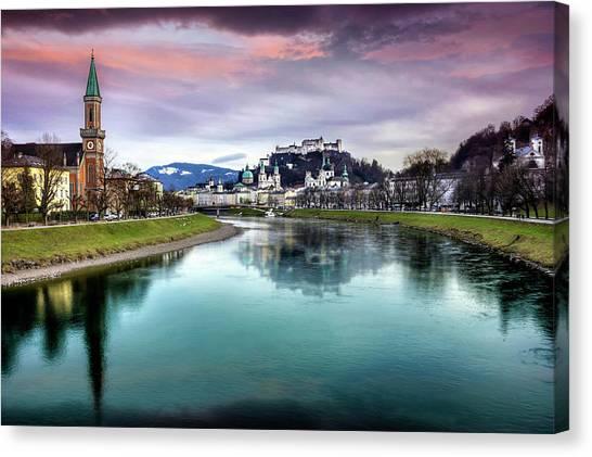 Mozart Canvas Print - The Magic Of Salzburg  by Carol Japp