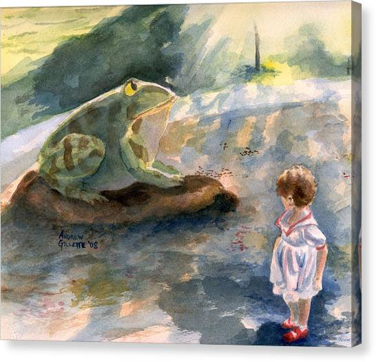 The Magical Giant Frog Canvas Print