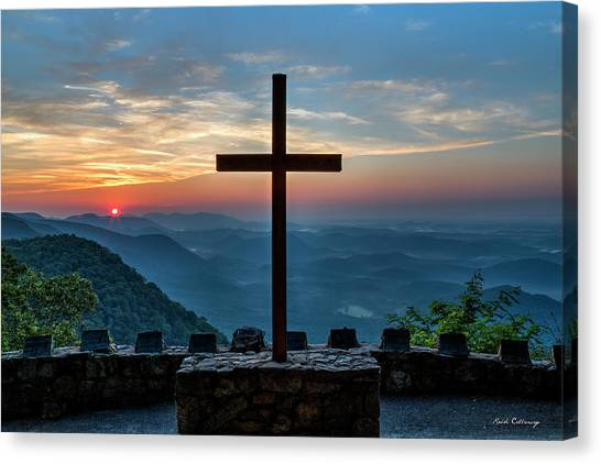 The Magnificent Cross Pretty Place Chapel Greenville Sc Great Smoky Mountains Art Canvas Print