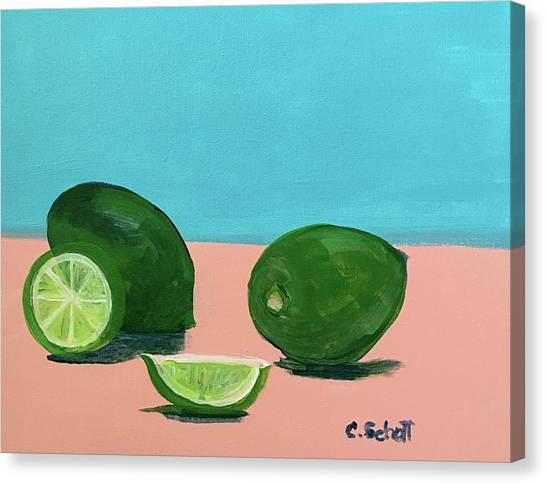 The  Magnificent Fruit From The Lime Tree II Canvas Print