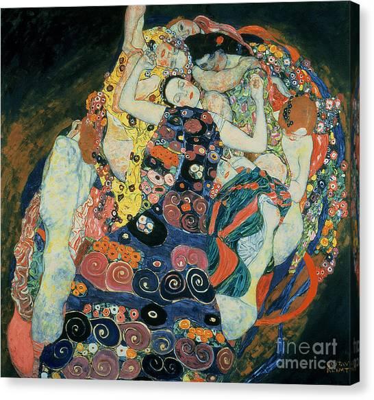 Gustav Klimt Canvas Print - The Maiden by Gustav Klimt