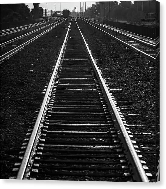 Freight Trains Canvas Print - The Main Line by Marvin Spates