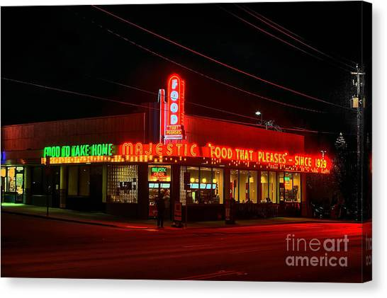 Jasper Johns Canvas Print - The Majestic Diner by Corky Willis Atlanta Photography