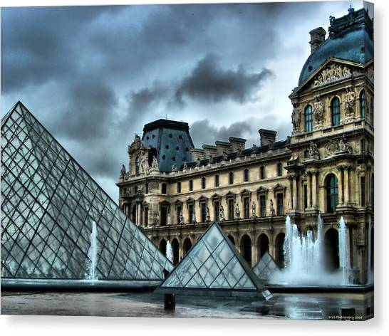 The Majestic Louvre Canvas Print by Greg Sharpe