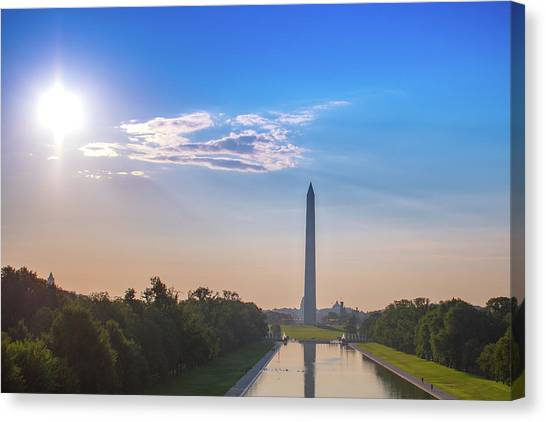 The Mall, Sky, Sun And Clouds Canvas Print