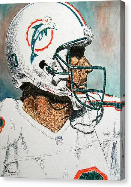Dan Marino Canvas Print - The Man by Maria Arango