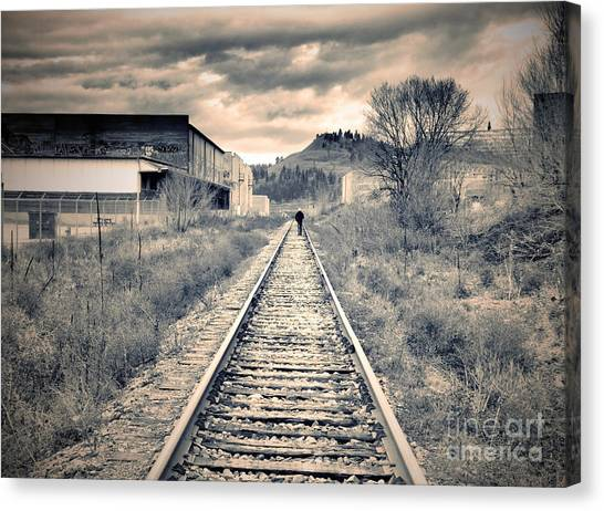 The Man On The Tracks Canvas Print