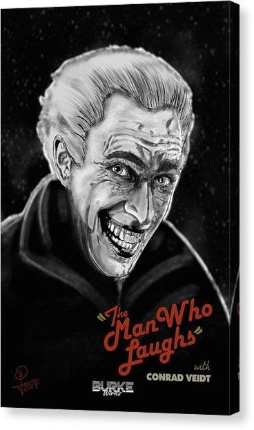 The Man Who Laughs Canvas Print by Joseph Burke