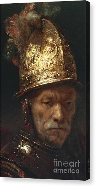 Rembrandt Canvas Print - The Man With The Golden Helmet by Rembrandt