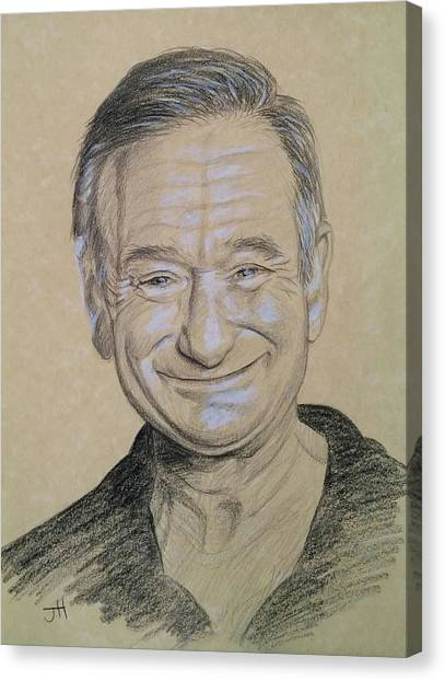 Canvas Print featuring the drawing The Man With The Smile by Jennifer Hotai
