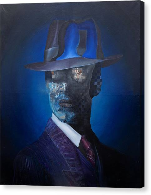 Canvas Print featuring the painting The Manager by Obie Platon