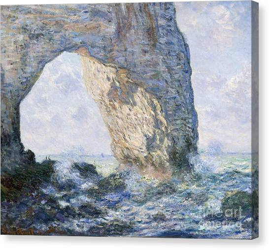 Etretat Canvas Print - The Manneporte, Etretat, 1883 by Claude Monet