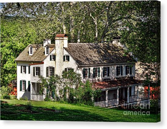 Vegetable Garden Canvas Print - The Mansion At Hopewell Furnace by Olivier Le Queinec