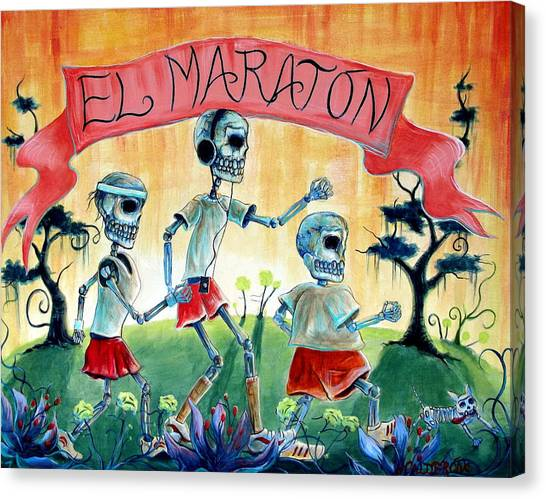 The Marathon Canvas Print