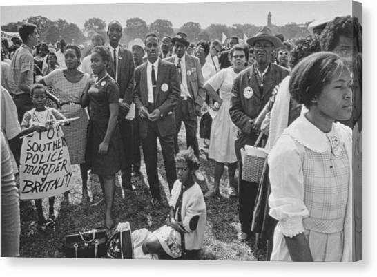 Placard Canvas Print - The March On Washington  Washington Monument Grounds by Nat Herz