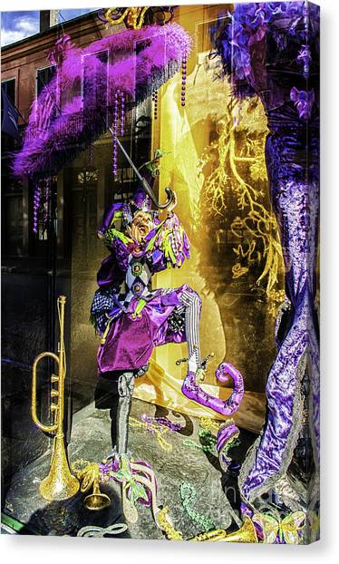 The Mardi Gras Jester Canvas Print