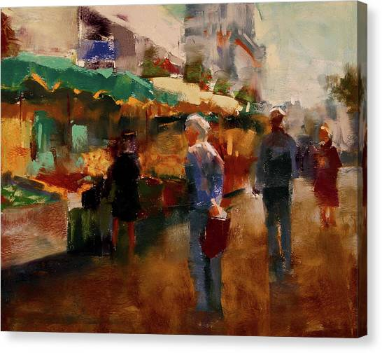 Vegetable Stands Canvas Print - The Market by David Patterson