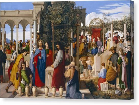 Lute Canvas Print - The Marriage At Cana by Julius Schnorr von Carolsfeld
