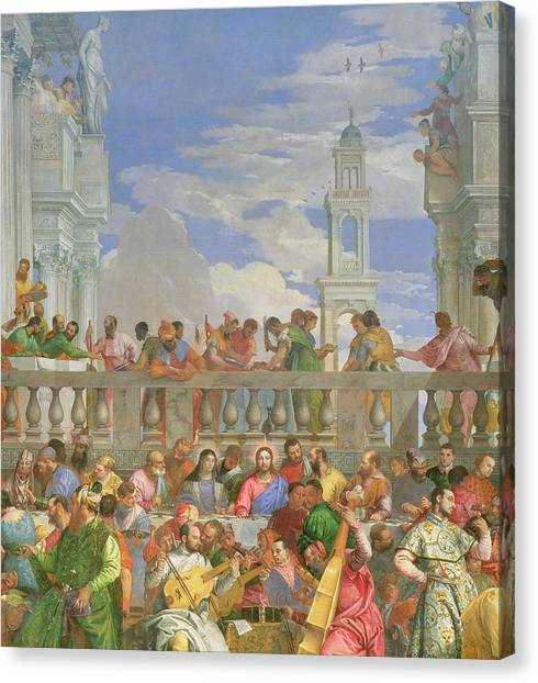 Messiah Canvas Print - The Marriage Feast At Cana by Veronese
