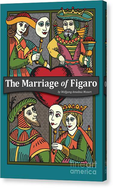 Singing Canvas Print - The Marriage Of Figaro by Joe Barsin