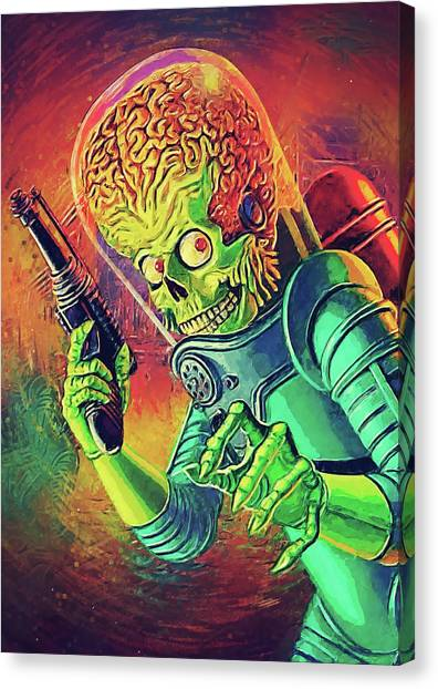 Political Science Canvas Print - The Martian - Mars Attacks by Zapista
