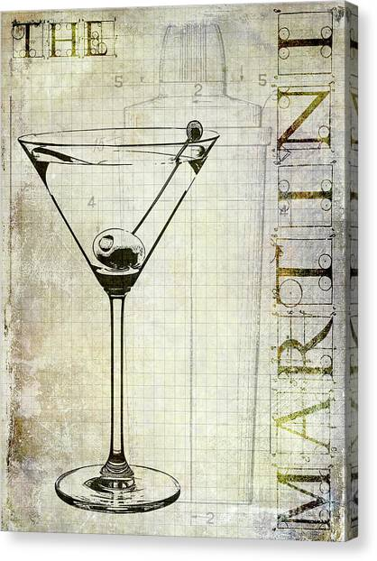 Bartender Canvas Print - The Martini by Jon Neidert