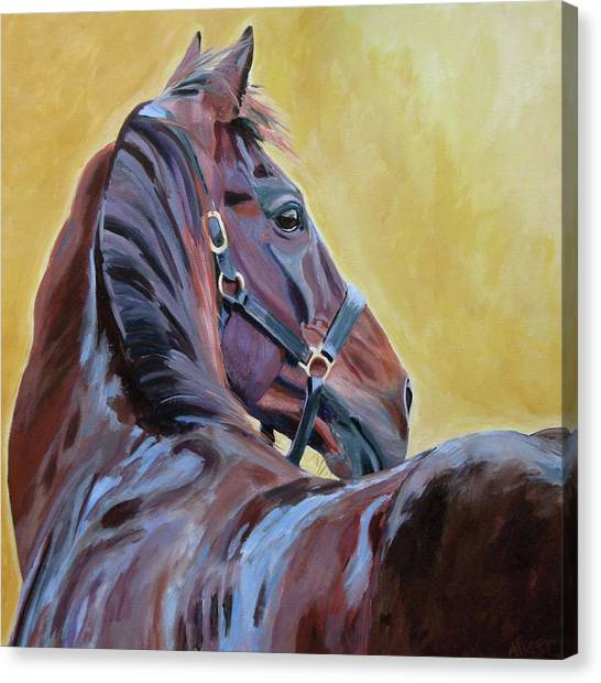 Race Horses Canvas Print - The Masters by Anne West