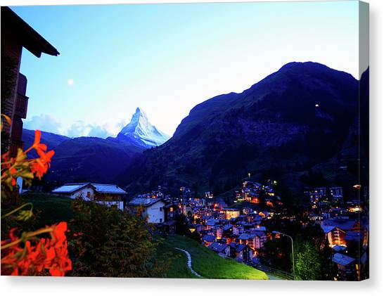 Matterhorn Canvas Print - The Matterhorn In Dusk by Kurick Berry