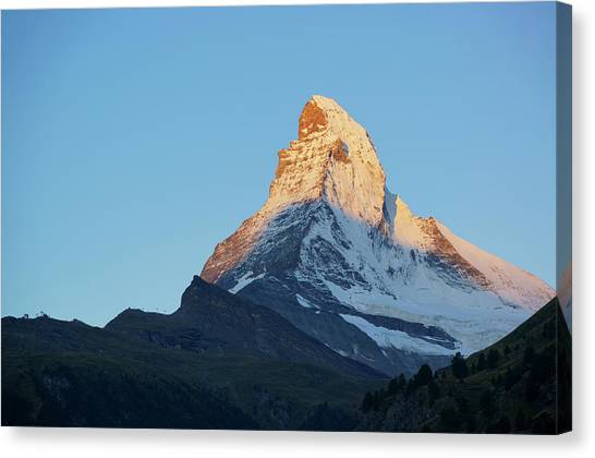 Matterhorn Canvas Print - The Matterhorn Of The Morning Glow by Kurick Berry