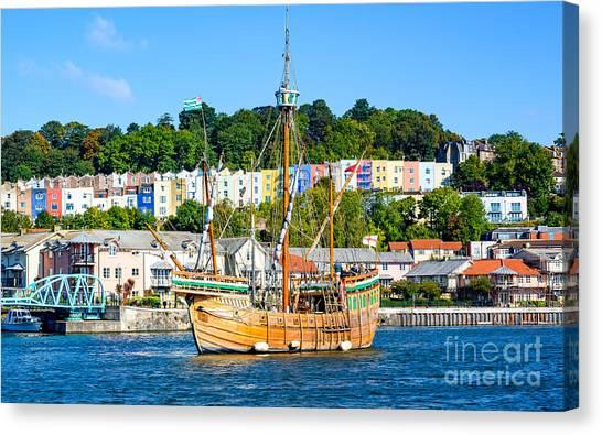 The Matthew In Bristol Harbour Canvas Print