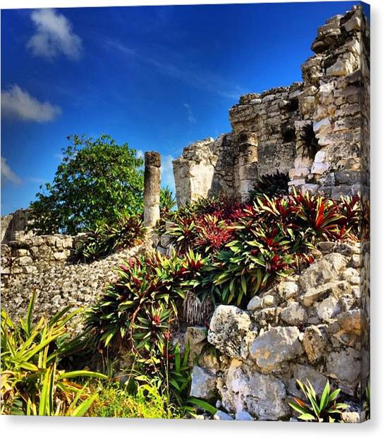 Keeper Canvas Print - The #mayan #city Of #tulum Now Cares by Gary Sumner