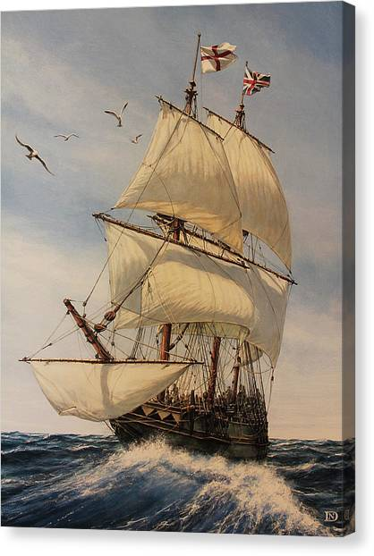 Pilgrims Canvas Print - The Mayflower by Dan Nance