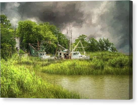 John Adams Canvas Print - The Me And Matt - Apalachicola Florida by John Adams