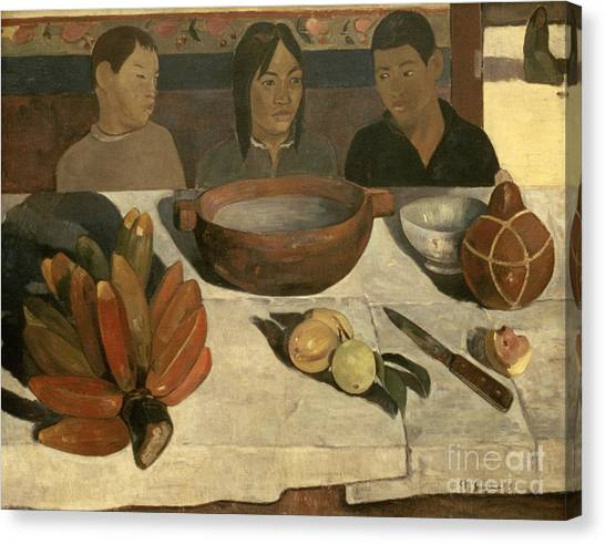 Dinner Table Canvas Print - The Meal by Paul Gauguin