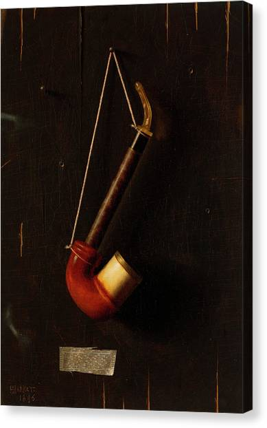 Music Genres Canvas Print - The Meerschaum Pipe by William Michael Harnett